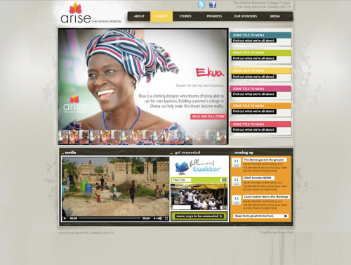 Arise Ghana Website Design