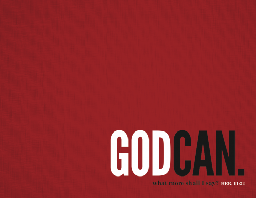 God Can Brochure Cover