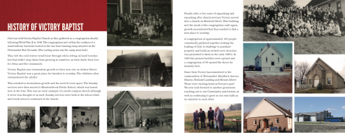 God Can Brochure History Page
