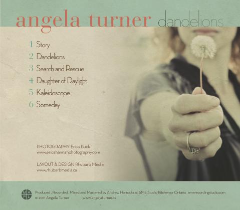 Angela Turner CD Back